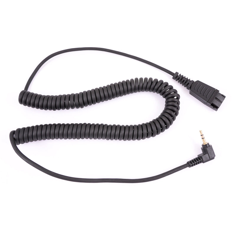 2.5 mm Headset built in Jaba Compatible QD - Pro Ear Loop Headset + 2.5 mm Headset Jack for Call Center