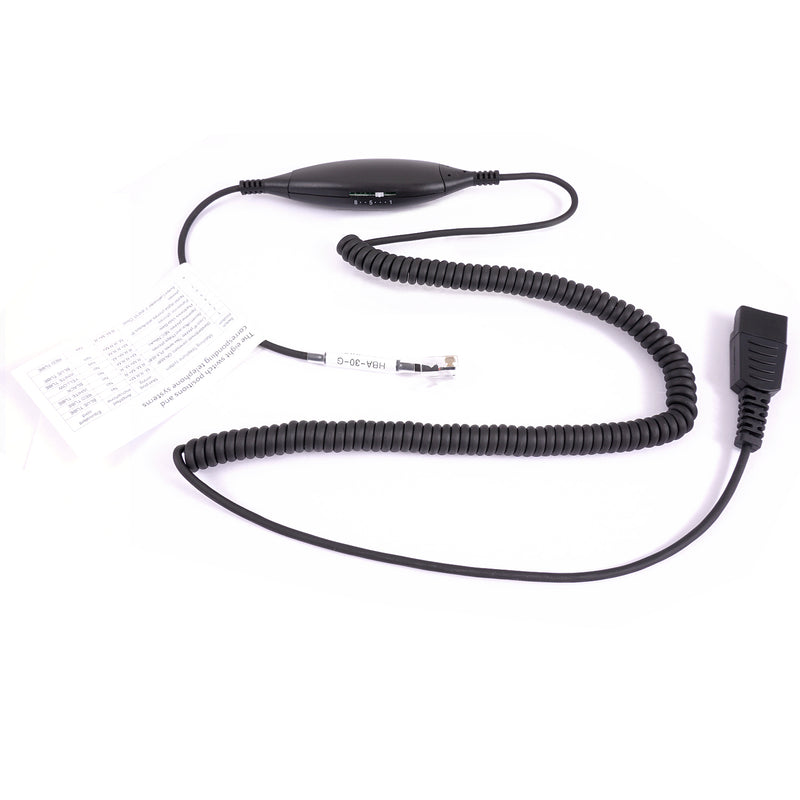 Universal RJ9 Headset adapter - Jabra compatible quick disconnect