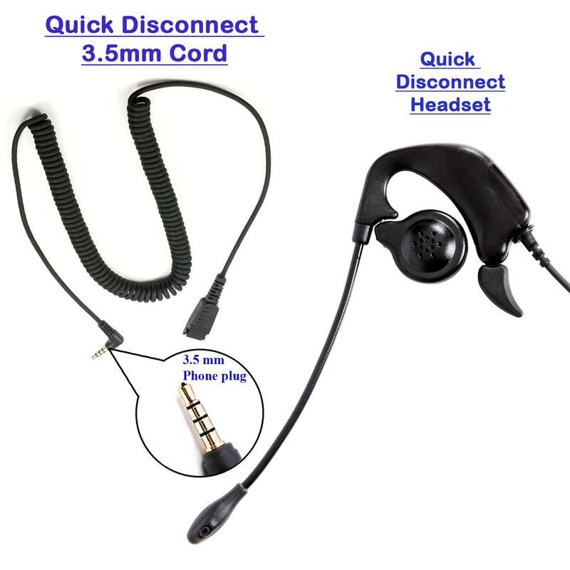 Ear Loop Noise Cancelling Pro 3.5 mm Headset with a Quick Disconnect for Computer