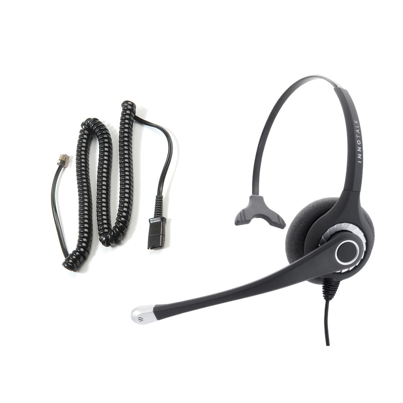 Avaya Nortel Phone M3905, M5200 Series Headset - Sound Emphasis Pro Monaural Noise Cancelling Headset + RJ9 headset Adapter