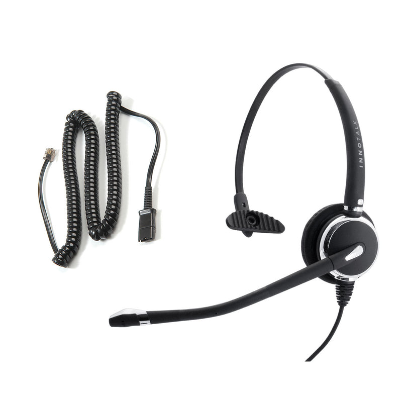 Avaya Nortel Phone M8001, M8003, T7208, T7324  Headset, Best Professional Monaural Headset with Noise Cancel Mic Headset + RJ9 Headset Adapter in Plantronics Compatible QD
