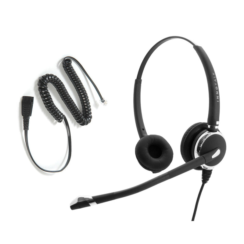 Avaya Nortel Phone 1150e, 3904, M3905, M7308, M7900 Headset - Luxury Pro Noise Cancelling Swiveling Receiver Binaural Headset