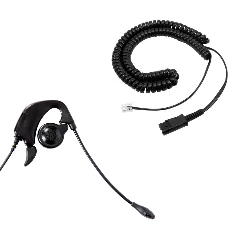 Cisco 12 VIP, 30 VIP, 69xx, 78xx Phone Headset in Quick Disconnect - Professional Ear Loop Headset + Cisco Headset Adapter
