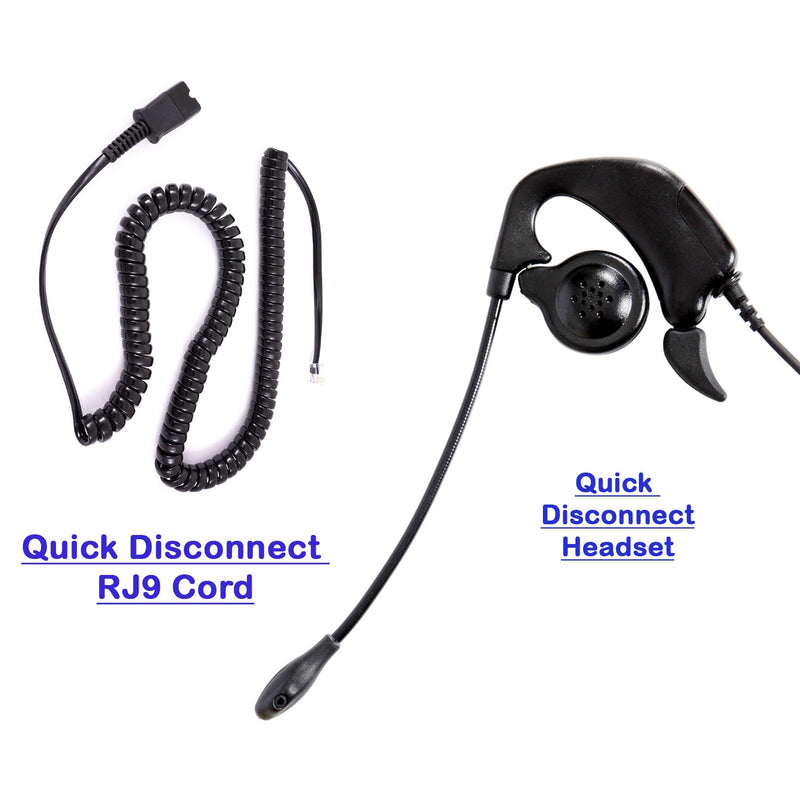 Professional Over the Ear Phone Headset with RJ9 U10 26716-01 Headset Adapter