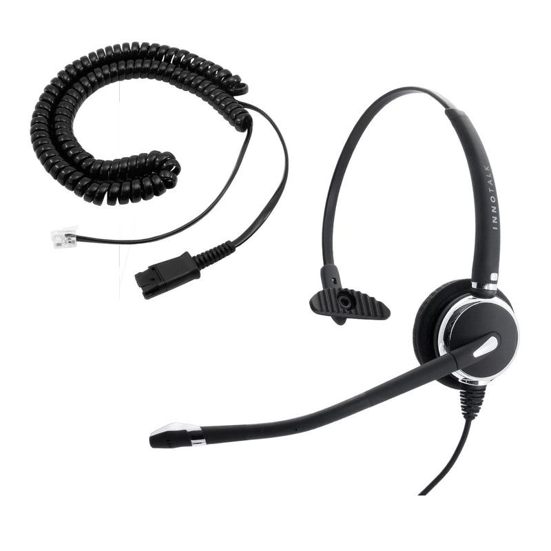 Cisco 12 VIP, 30 VIP, 6921, 6941 Phone Headset, Best Professional Monaural Headset with Noise Cancel Mic Headset + RJ9 Cisco Phone Headset Adapter