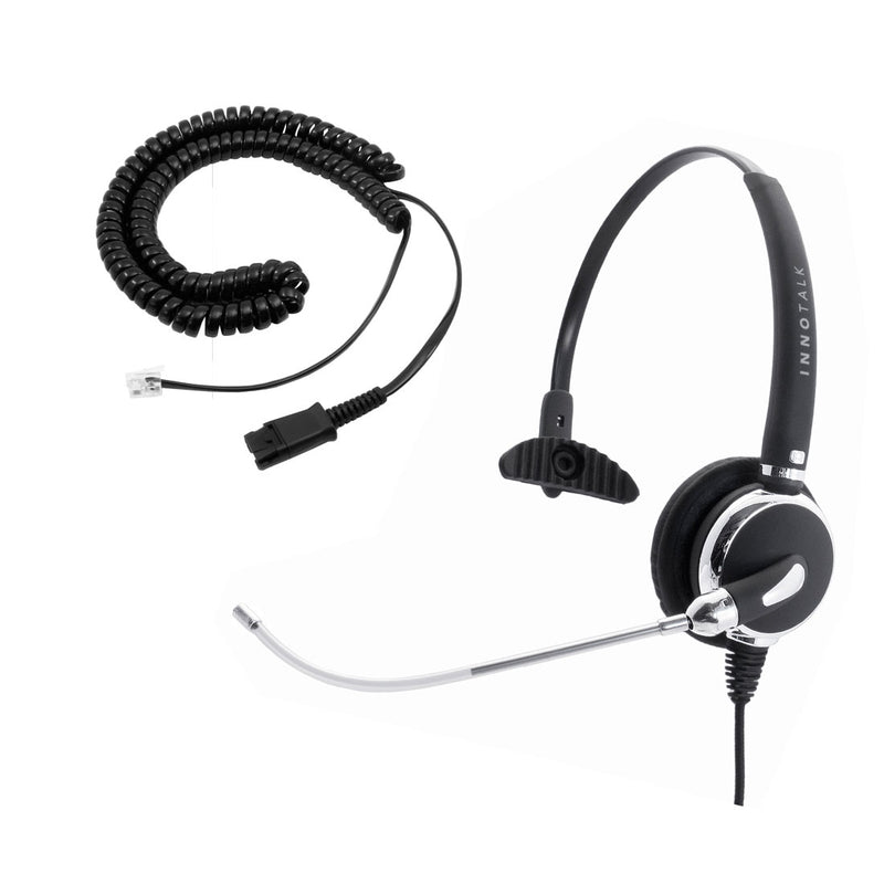 Avaya CallMaster V, CallMaster VI Professional Voice Tube Microphone Office Headset - Plantronics Compatible QD cord + Clear Voice Monaural Phone Headset
