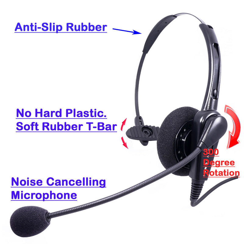 Cost Effective Pro Monaural Computer Headset for Desk PC at Office, Customer service