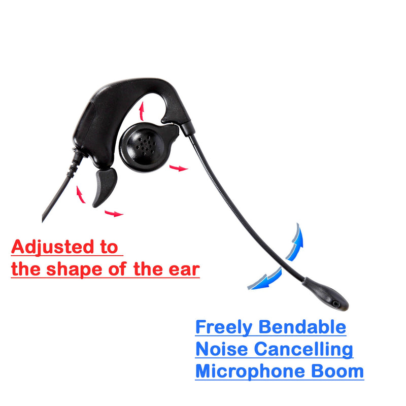 Avaya 9640 9641 9650 9670 Phone Headset - Ear Hook Over Ear Headset with Plantronics compatible Avaya phone adapter