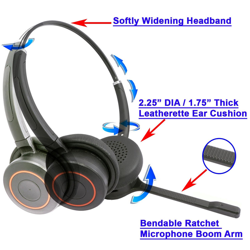 Professinal Stereo Wireless Bluetooth Headset with mic as Music Headphones, iphone headset headphone with noise cancelling microphone