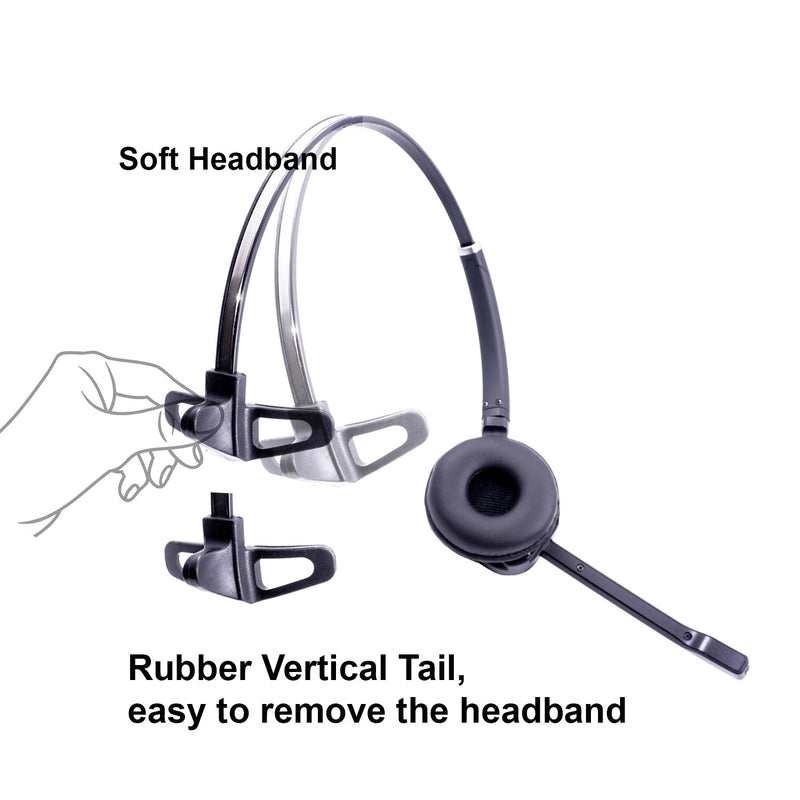 Toshiba DP5022, DP5032, DP5122, DP5130, DP5132 Phone and Computer Wireless Headset bundle - Wireless headset + Remote Hook Toshiba EHS cord
