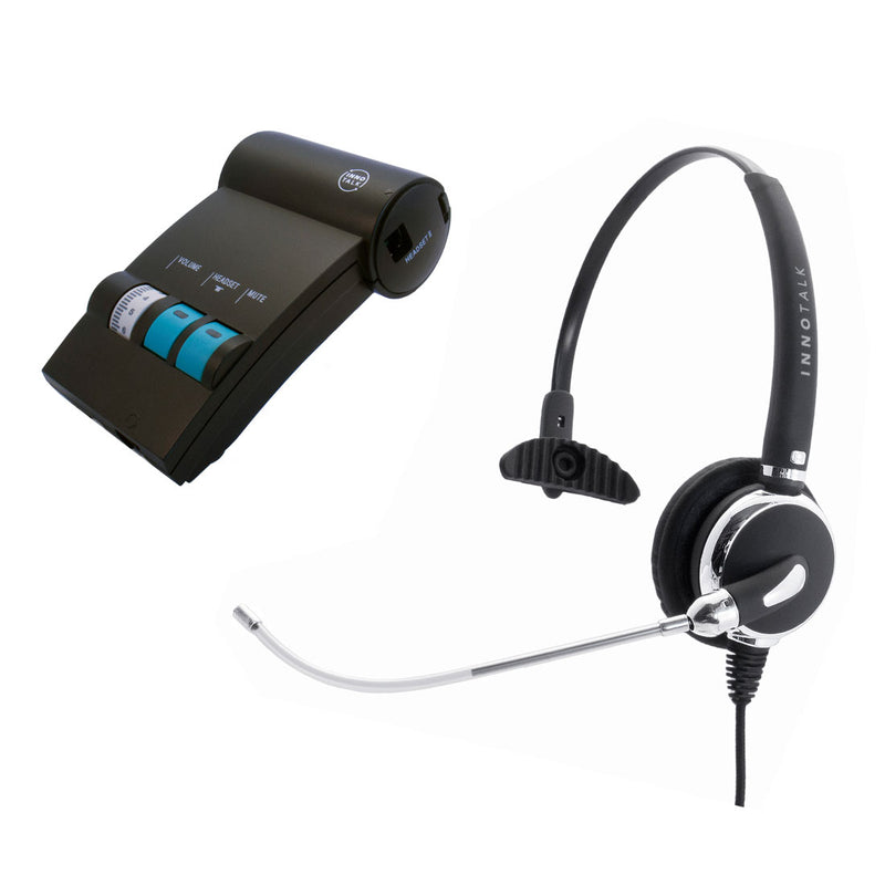 Avaya Lucent AT&T Partner phone T7316, T7316e, MLS-12 Professional Voice Tube Microphone RJ9 Headset + Headset Amplifer. Clear Voice Monaural Pro Phone Headset