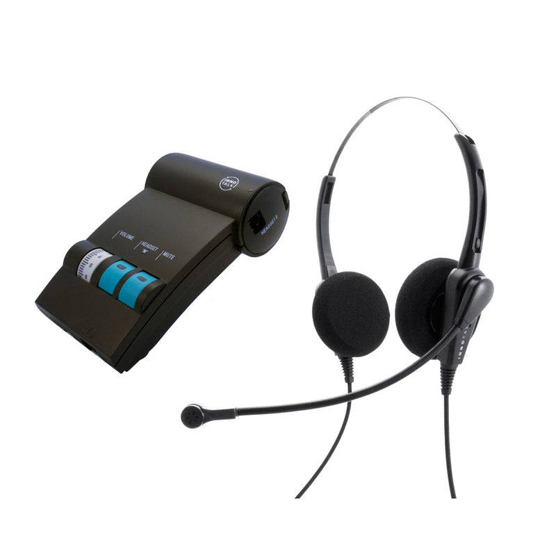 Avaya Lucent AT&T Partner phone MLS-12D, MLS-34, MLS-6 headset  Package - Cost Effective Customer Service Binaural headset + Headset Amplifier