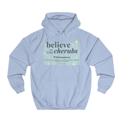 Believe In the Cherubs - Unisex College Hoodie