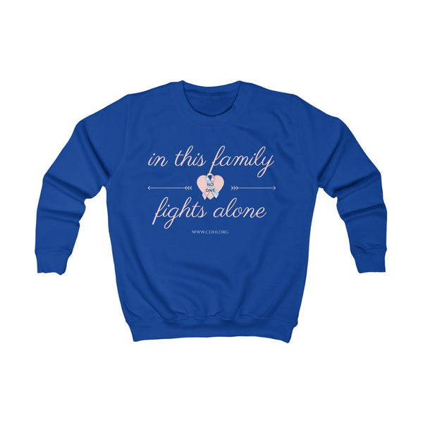 In This Family, No One Fights Alone - Kids Sweatshirt