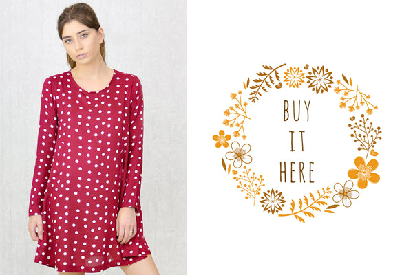Melinda-Swing-Dress-Berry-Spot-Froccupy