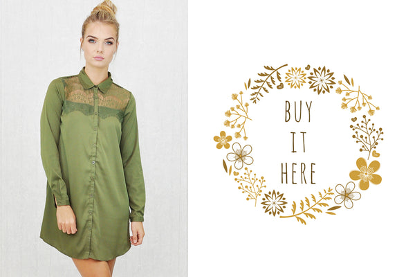 Yana-Lace-Panel-Shirt-Dress-Khaki-Froccupy
