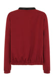Gigi Zip Thru' Bomber Jacket Burgundy
