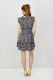 Keira Double Zip Detail Fit & Flare Dress Animal Print