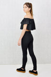 Soho Zip Detail Legging Black
