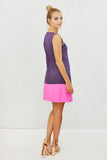 Sasha Sequin Trim Dropwaist Shift Dress Pink Purple