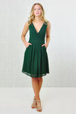 Lizzie Schiffli Lace Wrap Tie-Belted Dress Green