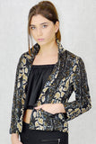 Becky Loose Fit Jacket Animal Print