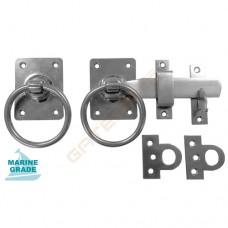 Stainless Steel Craftsman Ring Gate Latch, stainless steel fasteners included