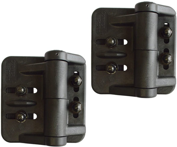 "Cornerstone 1 1/2"" x 2"" Square Self-Closing Hinge"