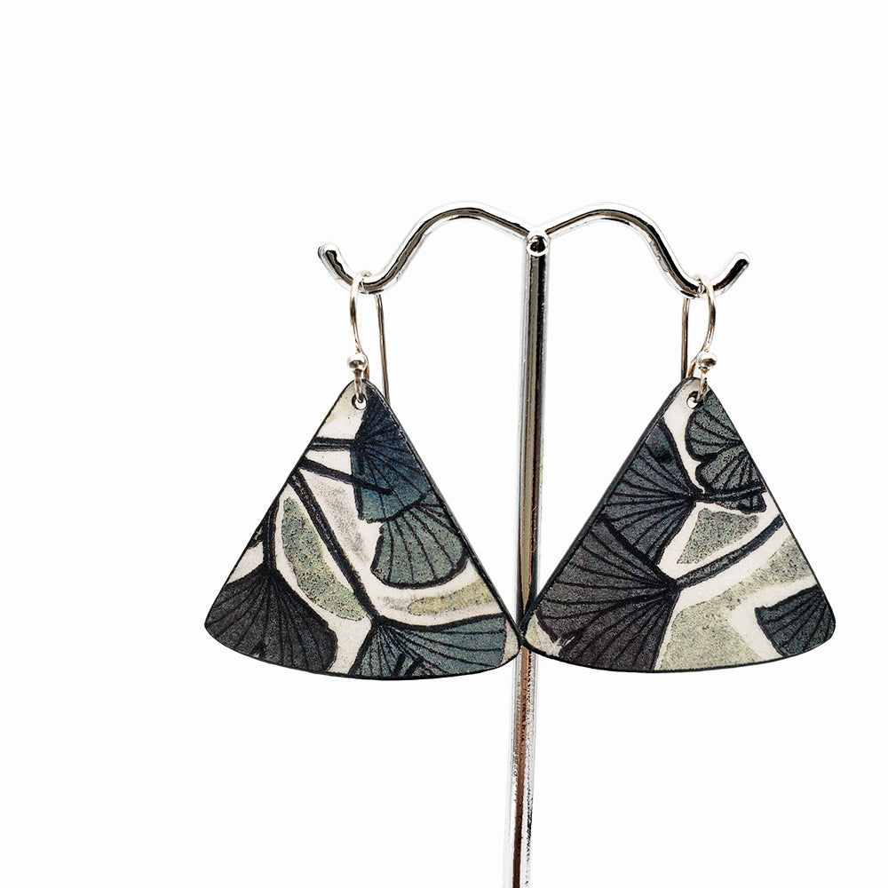 Ginkgo Watercolor Earrings