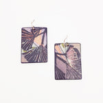 Purple and Pink Watercolor Earrings