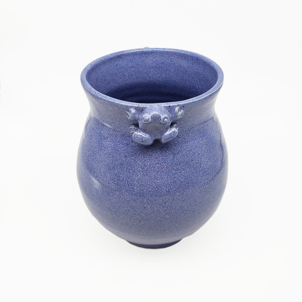 Load image into Gallery viewer, Purple Frog Vase