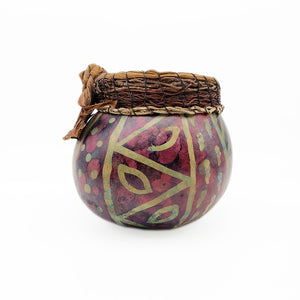 Load image into Gallery viewer, Batiked Gourd Basket Sculpture