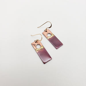 Medium Rectangular Sunset Earrings