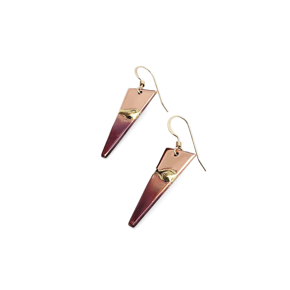 Triangular Sunrise Earrings