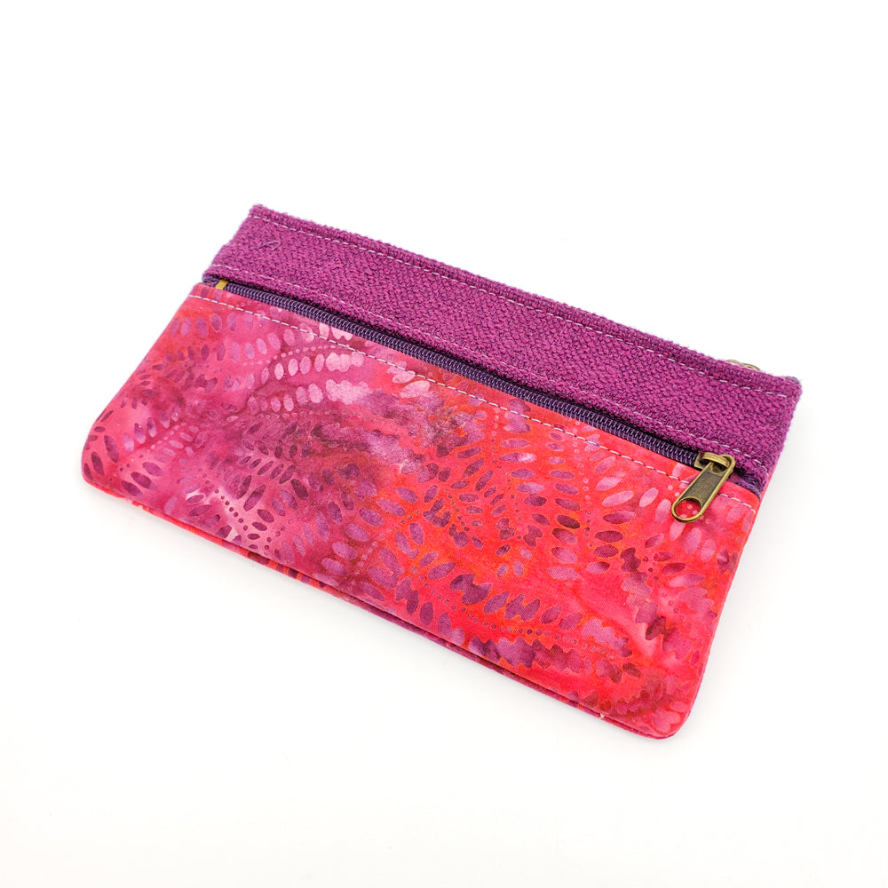 Red and Purple Zipper Bag