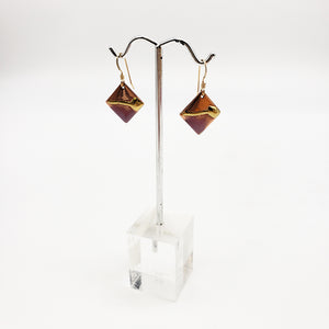 "Morningstar Metalworks 1/2"" Diagonal Square Earrings"