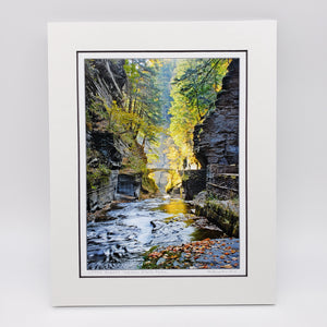 Load image into Gallery viewer, Treman Park Bridge Matted Print