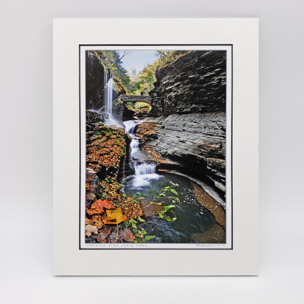 Watkins Glen Bridge Matted Print