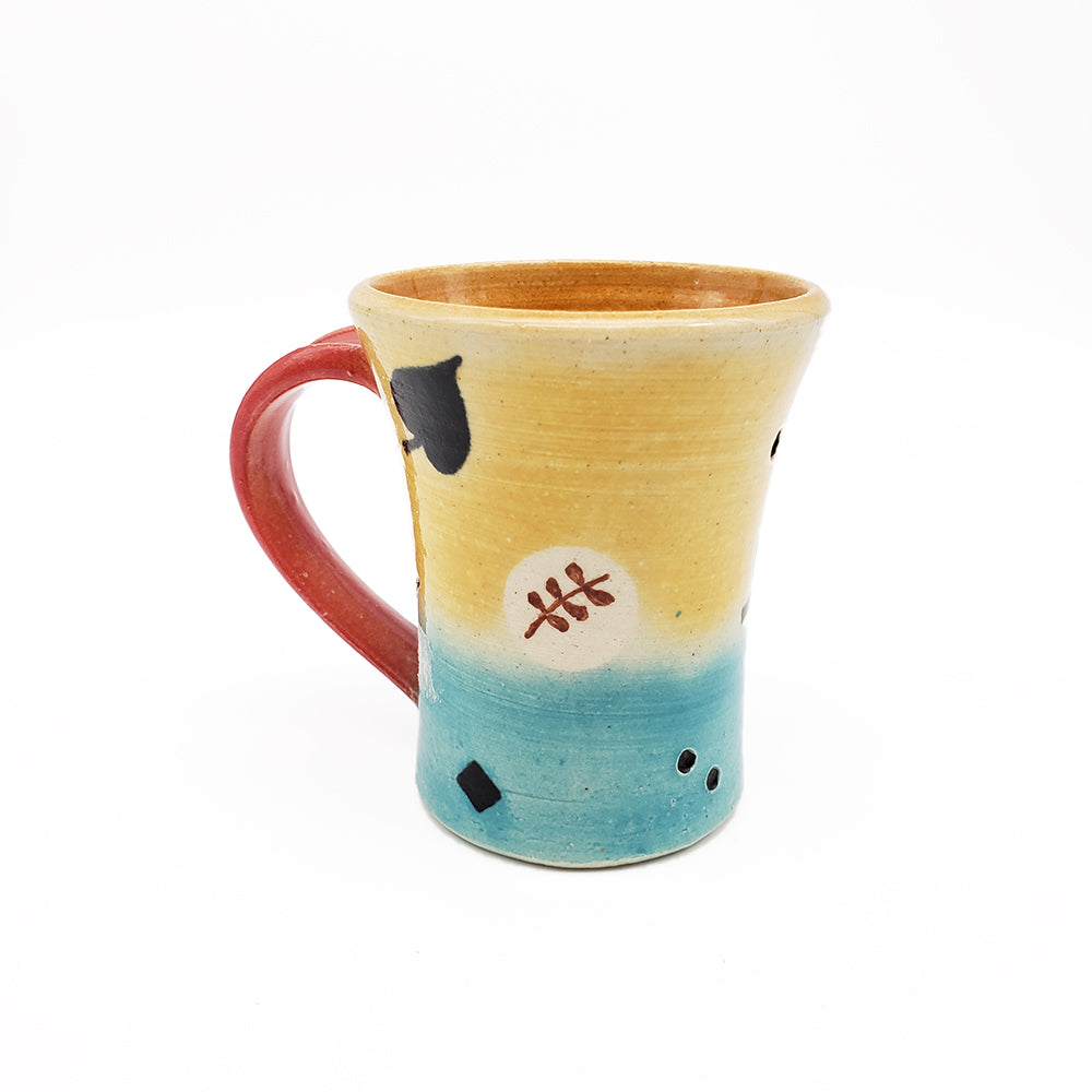 Colorful Mug With Leaves