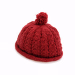 Organic Wool Red Hat For 6-18 Months