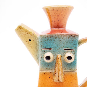 Colorful Face Pitcher