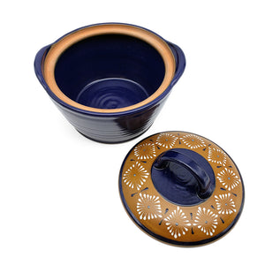 Blue Casserole Bowl With Cover