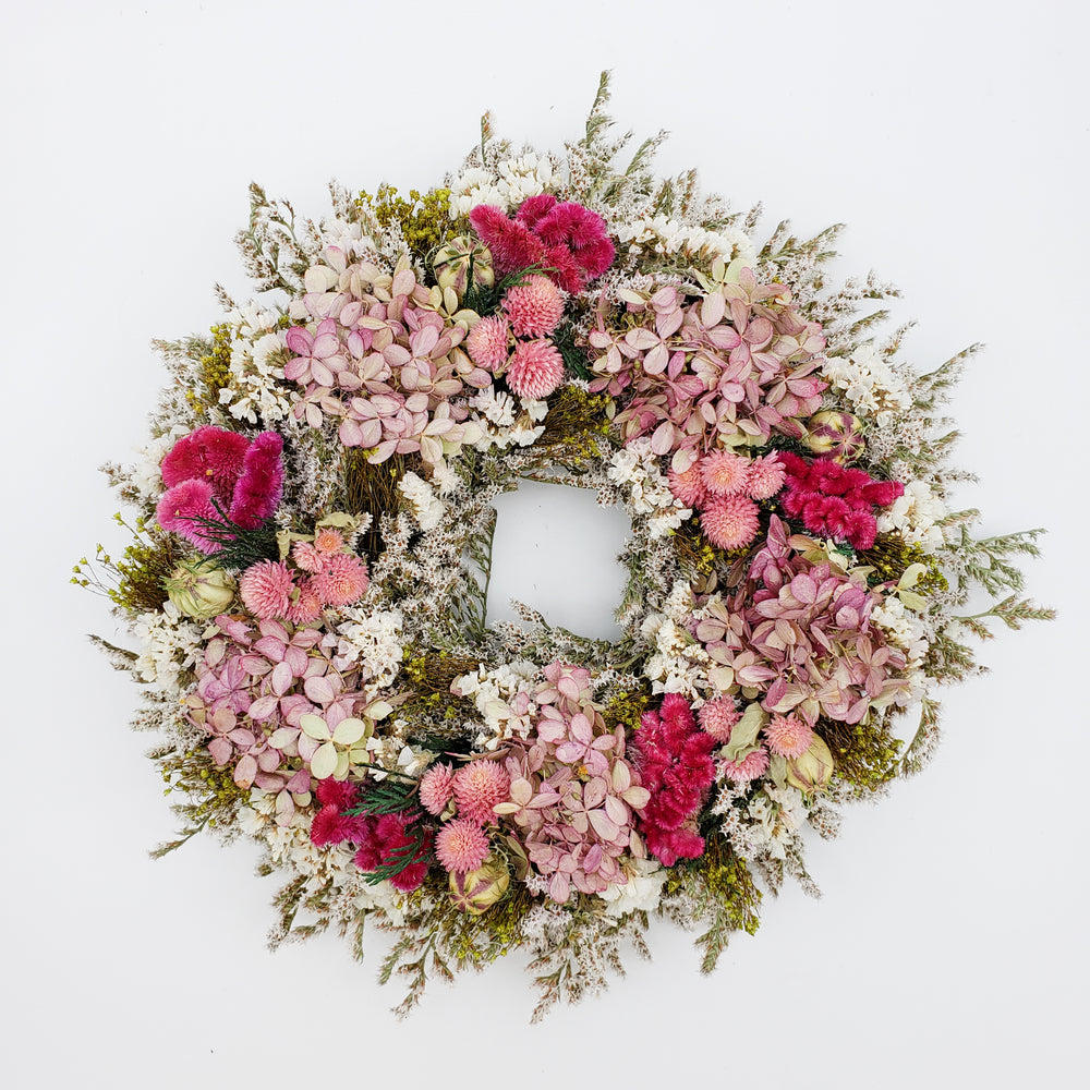 PINK AND WHITE STATUS WREATH