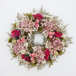 Pink and Green German Statice Wreath