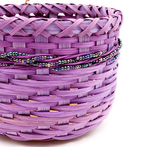 Purple Bead Embellished Basket