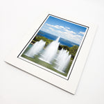 Ithaca College Fountains Matted Print