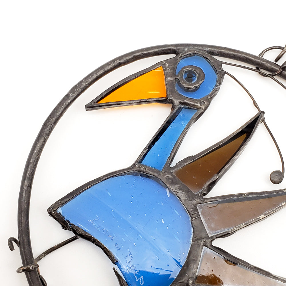 Load image into Gallery viewer, Blue & Brown Bird Ornament