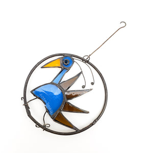 Blue & Brown Bird Ornament