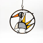 Gray & Yellow Bird Ornament