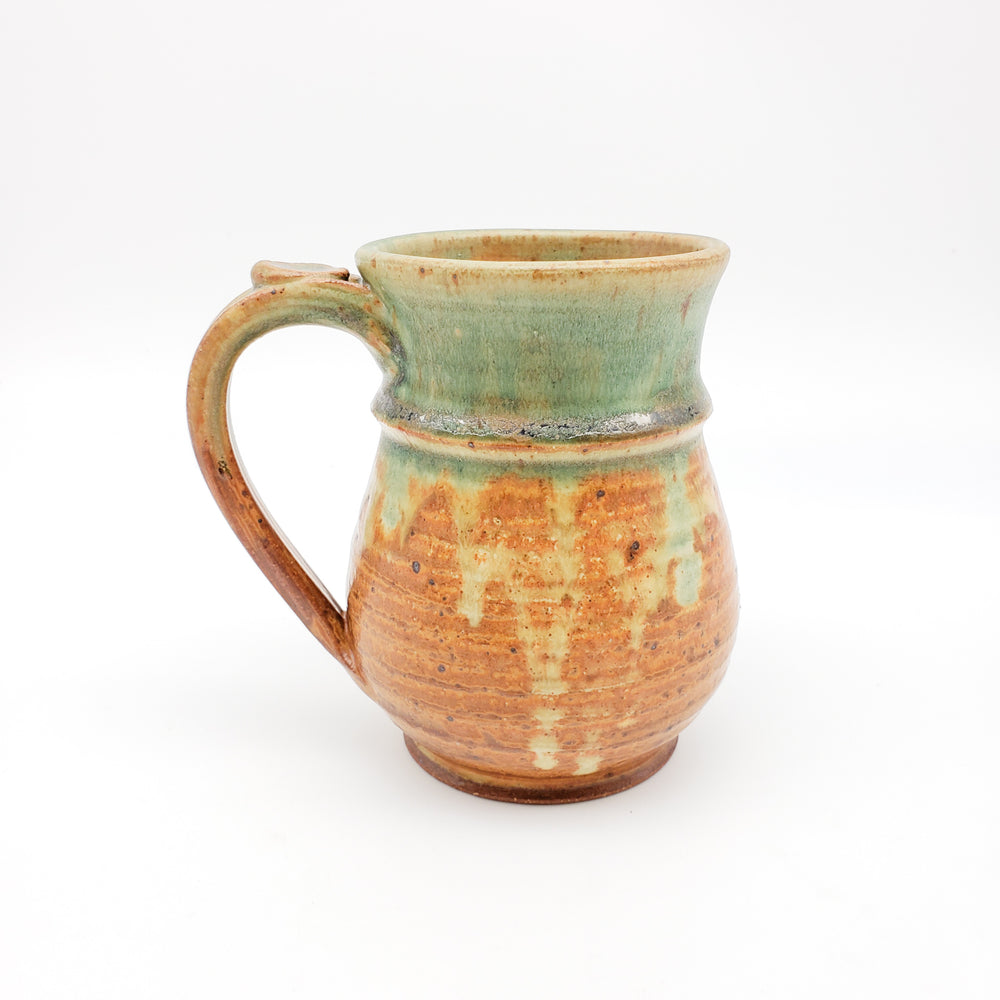 Brown and Green Mug